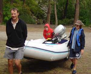 using launching wheels to move boat around campground