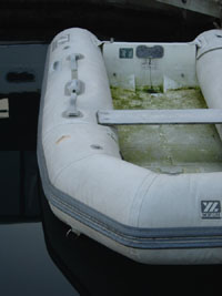 don't buy an inflatable boat that was stored this way!